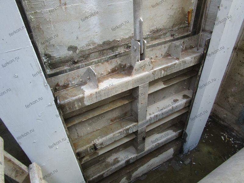 очистные сооружения, глубинный затвор 2000х2000