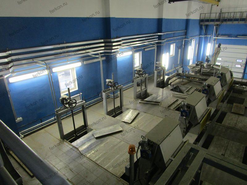 очистные сооружения, щитовые затворы, клиновые 800х800