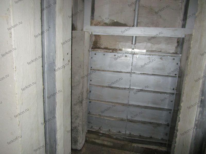 щитовой затвор под заливку в бетон ФЕРКОН